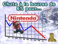 Nintendo chute de 6% à la bourse de Tokyo.