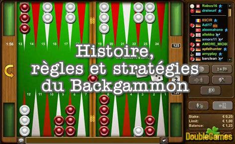 Histoire, règles et stratégies au backgammon.