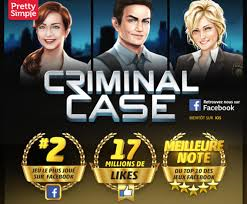 Top des jeux FaceBook : Criminal Case.