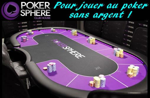 Jouer au poker sans argent ? PokerSphère !