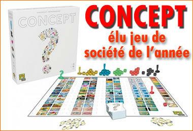 «Concept», ce jeu de société a été élu jeu de l'année 2014.