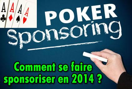 Joueurs de poker, comment trouver un sponsor ?