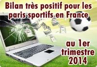 Paris sportifs en France: nette hausse au 1er trimestre 2014.