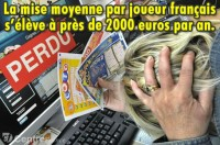 Les joueurs français dépensent 2000 € par an dans les jeux d\'argent.