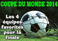 Coupe du monde 2014, nos équipes de football favorites.