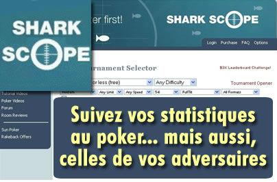 Sharkscope, le logiciel qu'il vous faut pour jouer au poker.