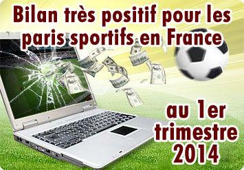 Paris sportifs en France : nette hausse au 1er trimestre 2014
