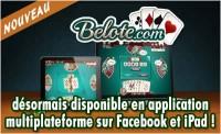 Belote.com est maintenant disponible sur Facebook et iPad.