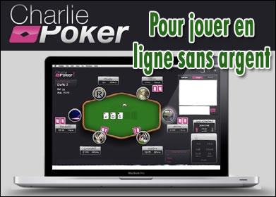 Charlie Poker, pour jouer gratuitement sans se ruiner.