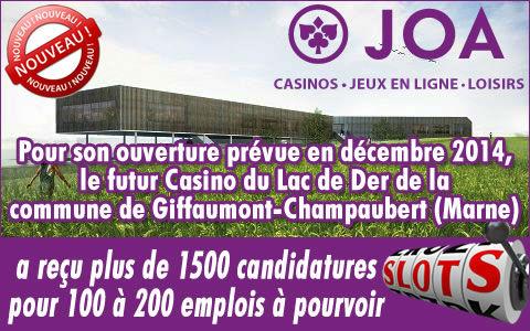 Casino du Lac du Der : 1500 candidatures envoyées au casino.