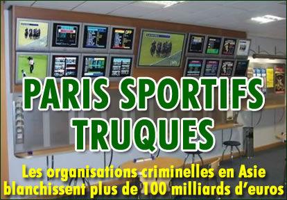 Paris sportifs truqués : 102 milliards d'€uros à l'échelle mondiale.