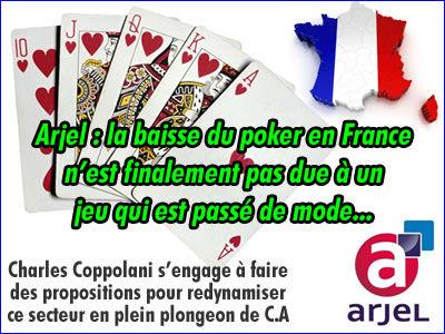 Arjel : la baisse du poker en France n'est pas due à un effet de mode.