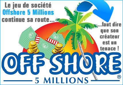 """Jeu de société, """"Offshore 5 millions"""", il est tenace Cyril de Breville."""