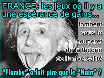 Jeux : La France devrait adopter la théorie de l'universalité.