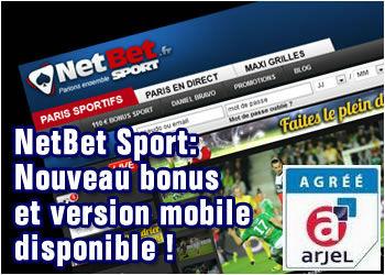 NetBet Sport, nouveau bonus et version mobile dispo !