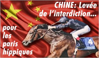 Chine : les paris hippiques ne sont plus interdits, interdiction levée.