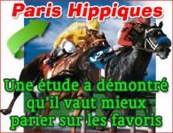 Paris hippiques: une étude a démontré qu\'il faut parier sur les favoris.