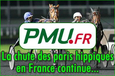 PMU : la chute des paris hippiques en France continue.