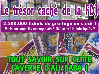 Jeux de grattage FDJ : 250 millions de tickets à gratter en stock !