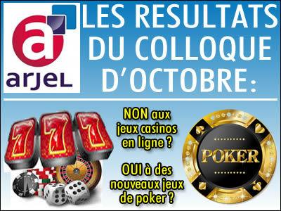 Arjel: les jeux casinos en ligne ne seront pas légalisés.