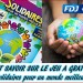 Le jeu de grattage: « Solidaires pour un monde meilleur ».