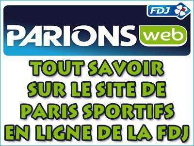 ParionsWeb, le site de paris sportifs en ligne de la FDJ.