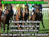 Paris hippiques, amendement sur la fiscalité retoqué.