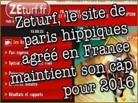 Paris hippiques: le site Zeturf maintient son développement.