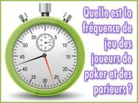 Quelle est la fréquence de jeu des joueurs de poker et parieurs ?
