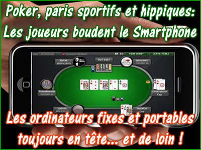 Smartphone: les joueurs de poker et parieurs le boude !