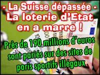 Paris sportifs illégaux, la Suisse désire faire le ménage.