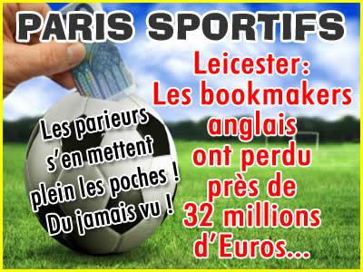Leicester: Pertes de 32 millions pour les bookmakers anglais