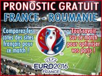 Pronostic France Roumanie Euro 2016 UEFA - Foot