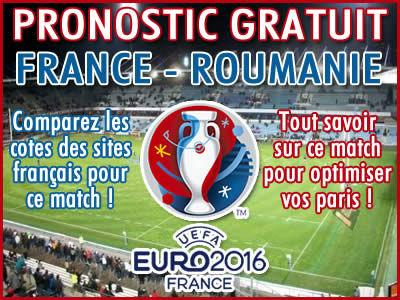 Pronostic France Roumanie Euro 2016 UEFA - Foot
