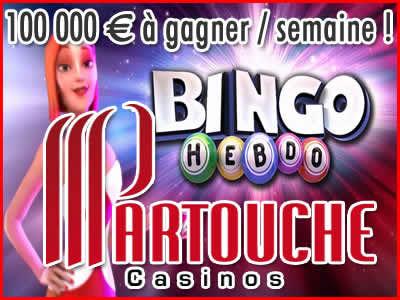 Bingo Hebdo de Partouche, 100 000 € à gagner / semaine !