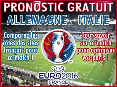 Pronostic Allemagne Italie Euro 2016 - Foot