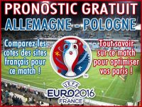 Pronostic Allemagne Pologne Euro 2016 - Foot