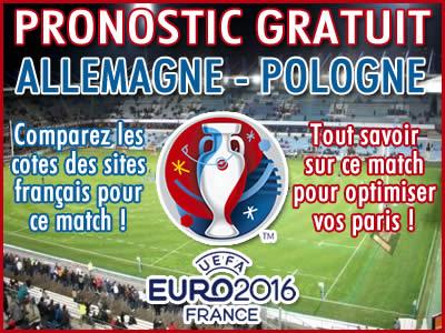 Pronostic Allemagne Pologne Euro 2016 - Foot
