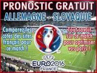 Pronostic Allemagne Slovaquie Euro 2016 - Foot
