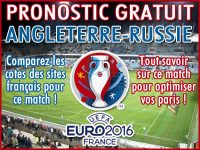 Pronostic Angleterre Russie Euro 2016 - Foot