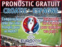Pronostic Croatie Espagne Euro 2016 - Foot