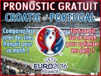 Pronostic Croatie Portugal Euro 2016 - Foot