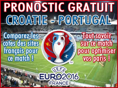 Pronostic Croatie Portugal Euro 2016 - Foot