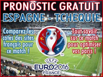 Pronostic Espagne République Tchèque Euro 2016 - Foot