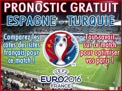 Pronostic Espagne Turquie Euro 2016 - Foot