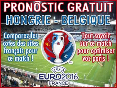 Pronostic Hongrie Belgique Euro 2016 - Foot