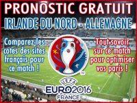 Pronostic Irlande du Nord Allemagne Euro 2016 - Foot