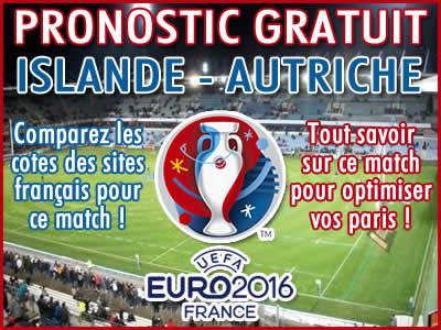 Pronostic Islande Autriche Euro 2016 - Foot