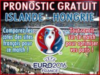 Pronostic Islande Hongrie Euro 2016 - Foot