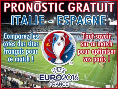 Pronostic Italie Espagne Euro 2016 - Foot